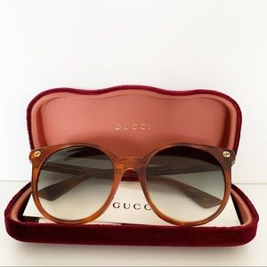 🌸 GUCCI Sunglasses Round Frame Vintage Look NWT
